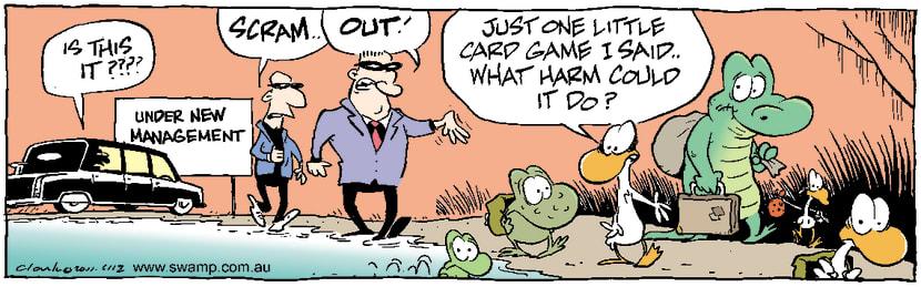 Swamp Cartoon - Losing OutApril 20, 2001