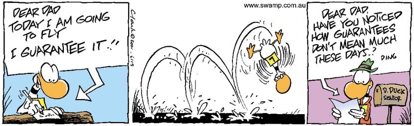 Swamp Cartoon - Dings GuaranteeApril 28, 2001