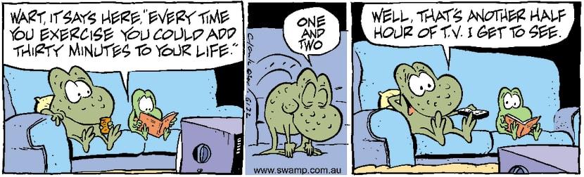 Swamp Cartoon - TV Shape UpMay 14, 2001