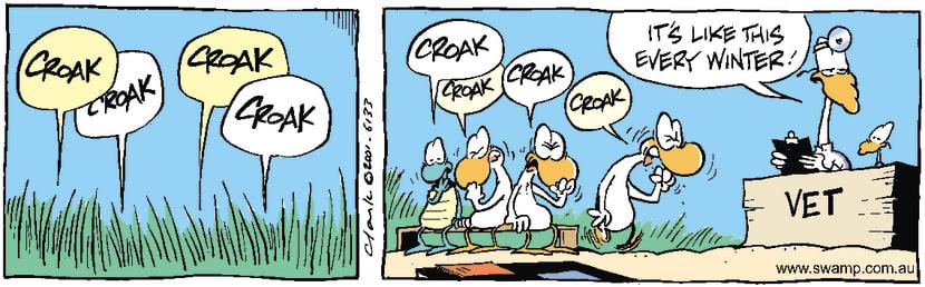 Swamp Cartoon - CroakMay 15, 2001