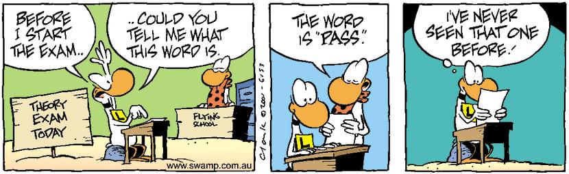 Swamp Cartoon - Exam QuestionJune 7, 2001