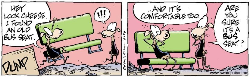 Swamp Cartoon - Bus Seat 1June 8, 2001