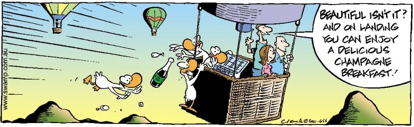 Swamp Cartoon - Aviator Ducks Ballooning RaidJune 22, 2001