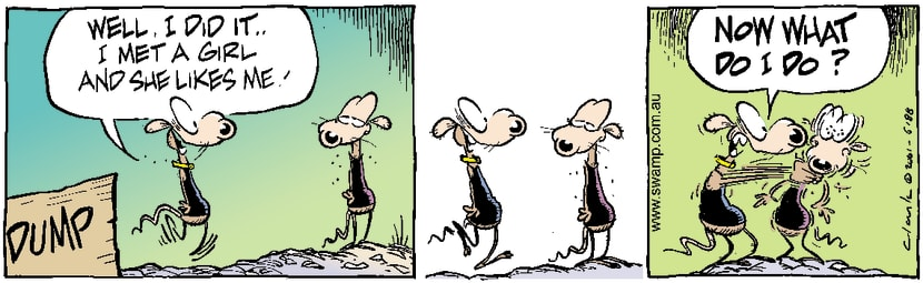 Swamp Cartoon - Romance DilemasJuly 18, 2001