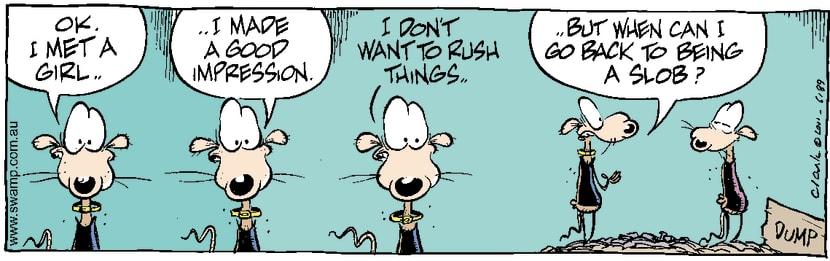 Swamp Cartoon - Chives Rat Girl ComicNovember 5, 2014
