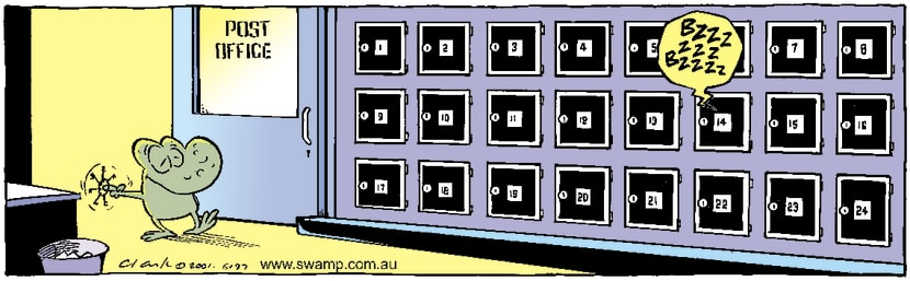 Swamp Cartoon - Post OfficeJuly 28, 2001