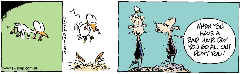 Swamp Cartoon - Birds NestAugust 7, 2001