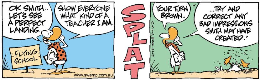 Swamp Cartoon - Student SkillsAugust 11, 2001