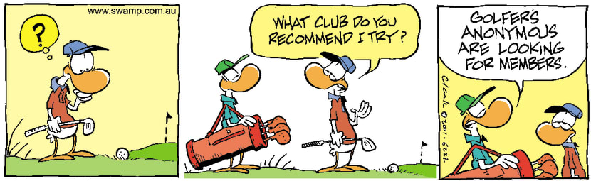 Swamp Cartoon - Golf ClubAugust 27, 2001