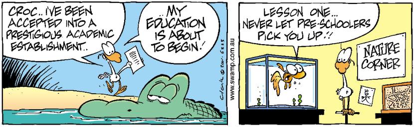 Swamp Cartoon - Nitpicker School 1August 30, 2001