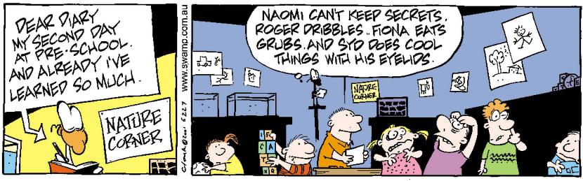Swamp Cartoon - Nitpicker School 3September 1, 2001