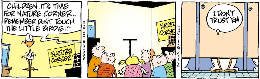 Swamp Cartoon - Nitpicker School 5September 4, 2001
