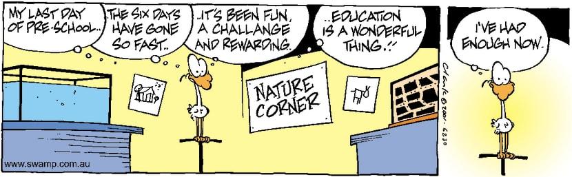Swamp Cartoon - Nitpicker School 6September 5, 2001