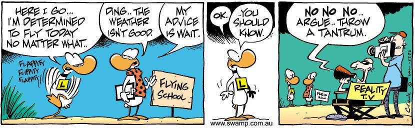 Swamp Cartoon - AdviceSeptember 7, 2001