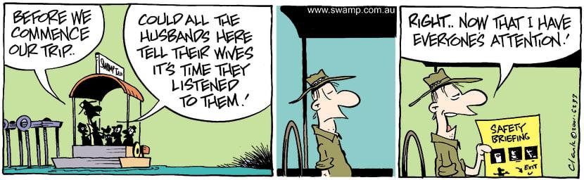 Swamp Cartoon - Good AdviceSeptember 8, 2001