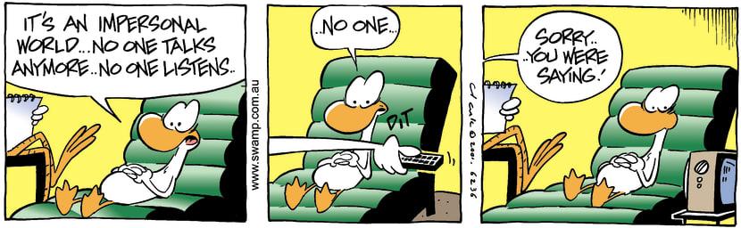 Swamp Cartoon - No One ListensSeptember 12, 2001