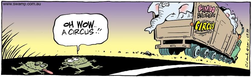 Swamp Cartoon - CircusSeptember 15, 2001