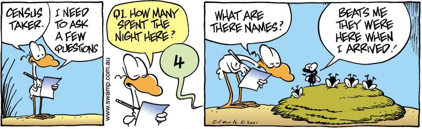 Swamp Cartoon - Census Question 1September 18, 2001
