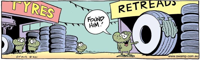 Swamp Cartoon - Retread TyresSeptember 20, 2001