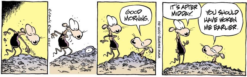 Swamp Cartoon - Morning CallSeptember 22, 2001