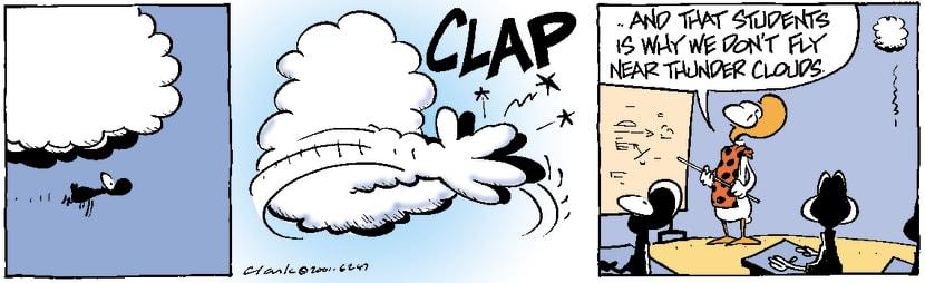 Swamp Cartoon - Thunder Cloud Clap ComicSeptember 25, 2001