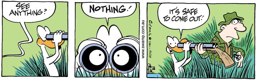 Swamp Cartoon - Looks SafeOctober 2, 2001