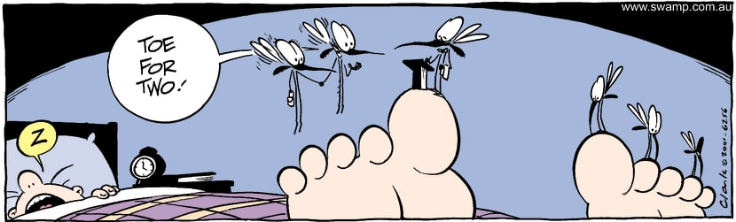 Swamp Cartoon - Mosquito Dinner ComicNovember 10, 2014
