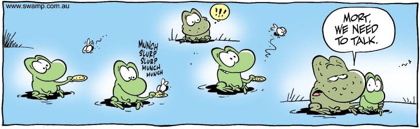 Swamp Cartoon - Feed & ReleaseOctober 11, 2001