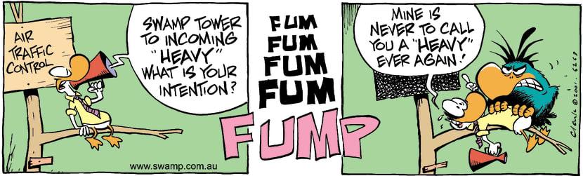 Swamp Cartoon - Incoming HeavyOctober 13, 2001