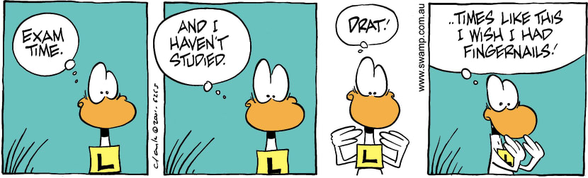Swamp Cartoon - Nervous HabitOctober 16, 2001