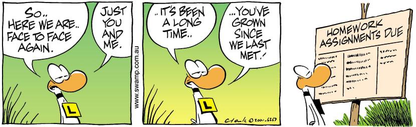 Swamp Cartoon - Long Time FriendOctober 18, 2001