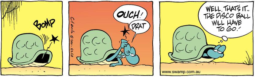 Swamp Cartoon - GroovinOctober 19, 2001