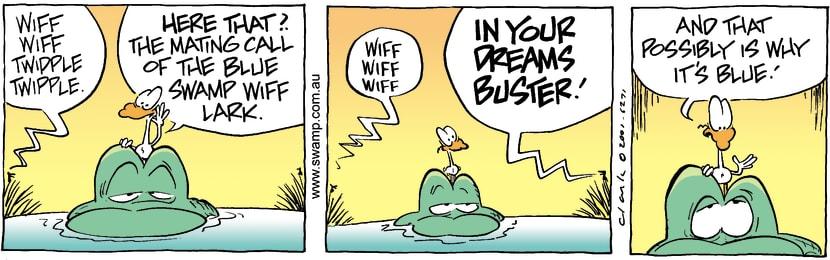 Swamp Cartoon - Blue Swamp Wiff LarkOctober 23, 2001
