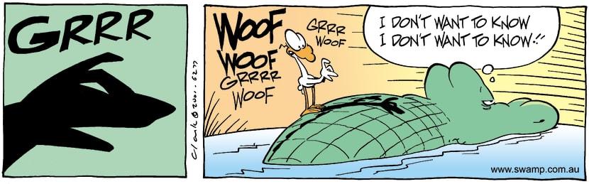 Swamp Cartoon - AmusementOctober 30, 2001