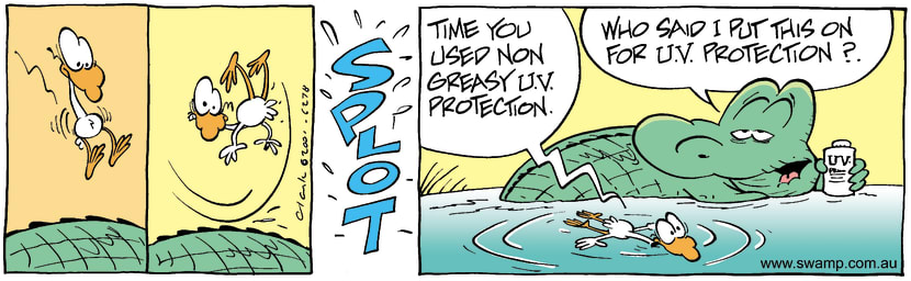Swamp Cartoon - U.V. ProtectionOctober 31, 2001