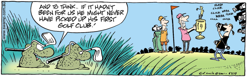 Swamp Cartoon - Toads Reminisce Golf AwardNovember 1, 2001
