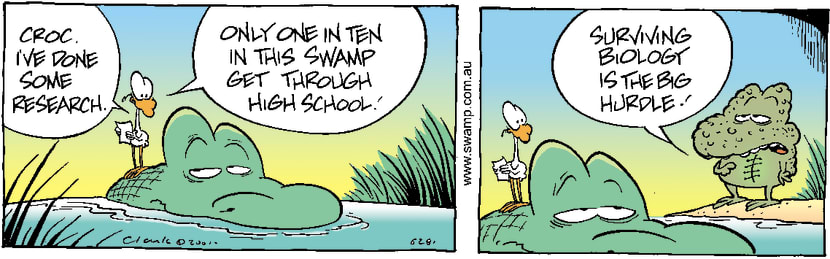 Swamp Cartoon - School ResearchNovember 3, 2001
