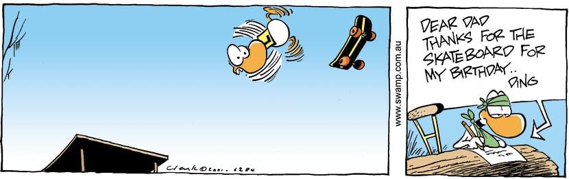 Swamp Cartoon - Ding Duck Birthday ComicOctober 30, 2014