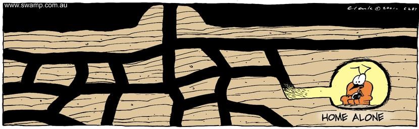 Swamp Cartoon - Home AloneNovember 10, 2001