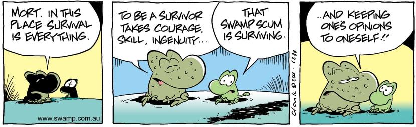 Swamp Cartoon - SurvivalNovember 12, 2001