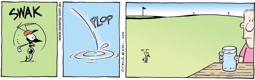 Swamp Cartoon - Sunken BallNovember 16, 2001