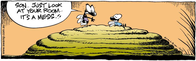Swamp Cartoon - Typical TeenNovember 17, 2001