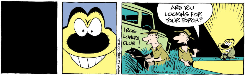 Swamp Cartoon - ScaryNovember 20, 2001