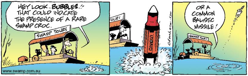 Swamp Cartoon - Torpedo TourNovember 26, 2001