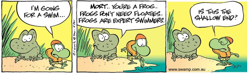 Swamp Cartoon - SwimNovember 27, 2001