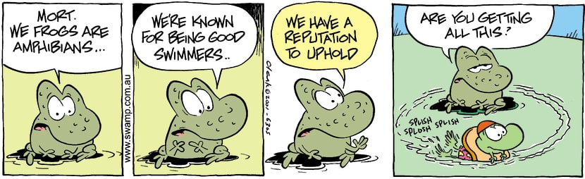 Swamp Cartoon - AmphibiansDecember 1, 2001