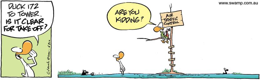 Swamp Cartoon - Clear Take OffDecember 7, 2001