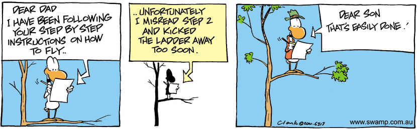 Swamp Cartoon - How To Fly 2December 11, 2001