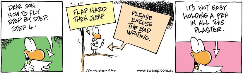 Swamp Cartoon - How To Fly 3December 12, 2001