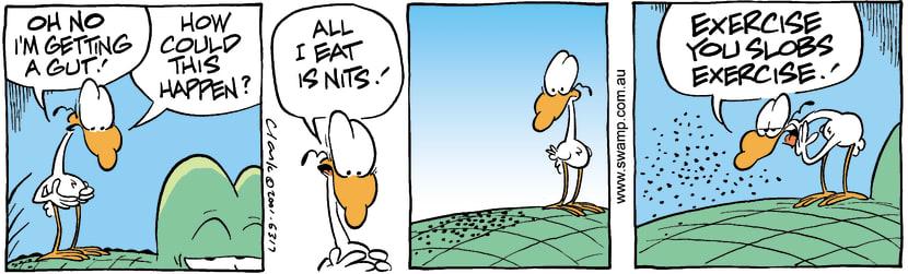 Swamp Cartoon - Fat GutDecember 15, 2001
